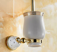 Ершик для унитаза Toilet Brush Rhinestones Gold