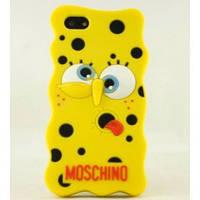 """Силиконовый чехол """"Губка Боб Moschino"""" для Iphone 5/5S"""