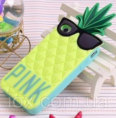 """Силиконовый чехол Victoria's secret """"Салатовый ананас"""" для Iphone 5/5S"""
