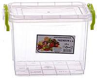 AL-PLASTIK PREMIUM Пищевой контейнер высокий с ручками 1.4 л