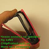 Fly IQ4403 красный чехол-книжка на телефон, фото 7