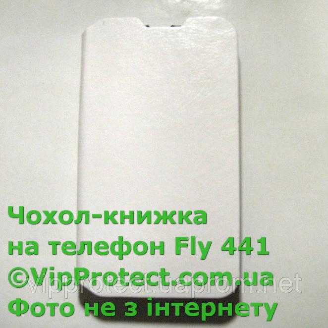 Fly IQ441 білий чохол-книжка на телефон