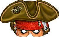 Шляпа-маска пирата картон
