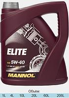 Синтетическое моторное масло MANNOL ELITE 5W-40 4L