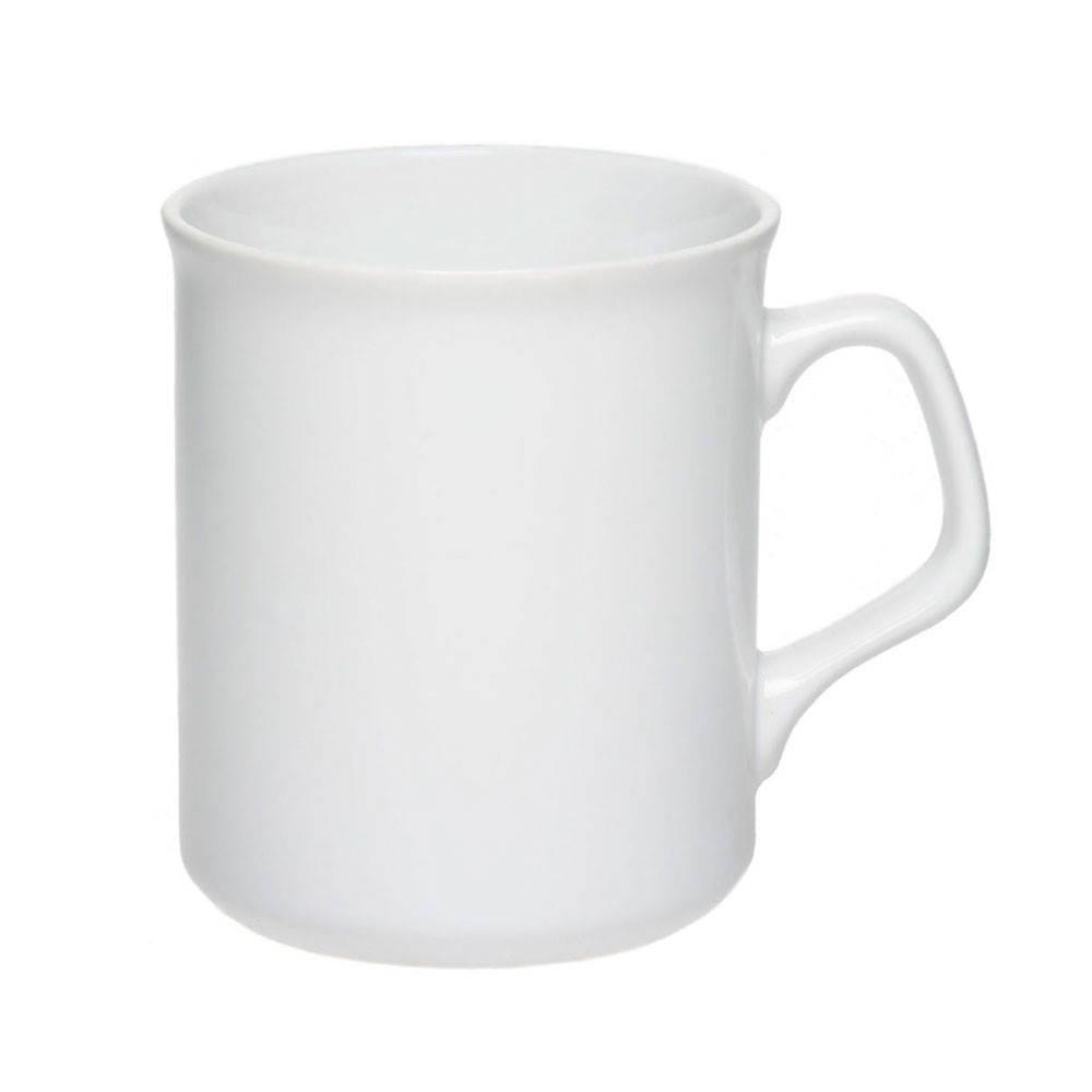 Белая Чашка ( кружка )  керамическая 310 мл