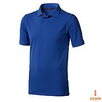 Рубашка поло мужская хб, синяя, трикотаж пике  Calgary от Elevate, Polo под  логотип
