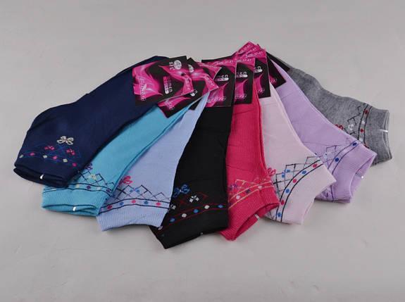 Женские носки заниженные разных цветов (E073) | 12 пар, фото 2