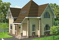 Строительство дома из сип панелей 107,13м.кв. «ГЛОРИЯ»