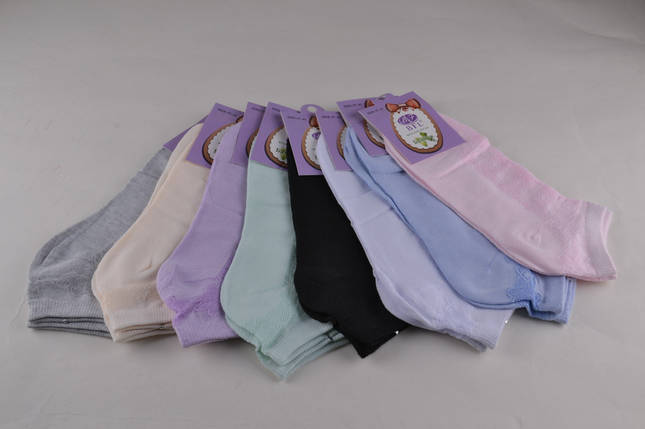 Женские носки заниженные с выбитым рисунком (Aрт. WE144), фото 2