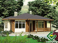 Строительство дома из сип панелей 101,47 м.кв., «ГЕЛИОС 17»