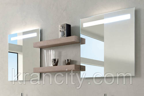 Зеркало для ванной комнаты Jacob Delafon Parallel EB1416-NF 100см, С подсветкой, анти-пар, Франция