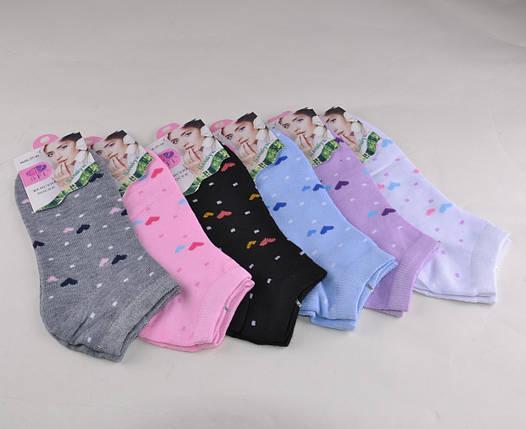 Женские носки заниженные с рисунком Сердечко (WE140) | 12 пар, фото 2