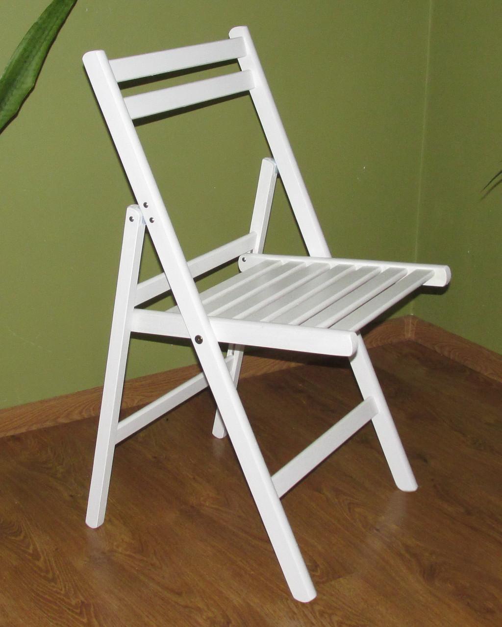 """Раскладной стул """"Компакт"""" (белый) из дерева БУК"""