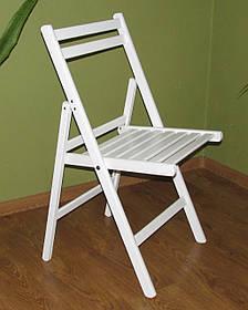 """Розкладний стілець """"Компакт"""" (білий) з дерева БУК"""