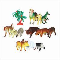 """Набор резиновых животных """"Дикие животные"""", микс видов, в кульке, арт. А 590 HN"""