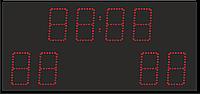 Спортивное табло, отображение таймер игры, счет игры, период, фол, термометр