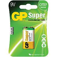 Батарейка GP 1604А-U1 Super alkaline 6LF22 (крона, 9V, блистер, 10/200)