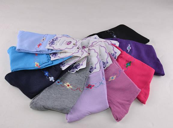 Женские носки цветные с рисунком Цветочек (B313) | 12 пар, фото 2