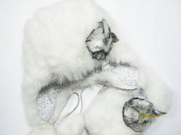 Детский зимний набор шапка с манишкой для девочки