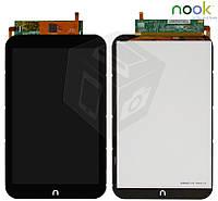 Дисплейный модуль (дисплей + сенсор) для Nook HD 7, черный, оригинал