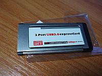 Адаптер AKE ExpressCard 34  54 - USB 3.0 (2 port) NEC UPD720202 chip 5 Gbps