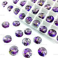 Пришивные камни (синтетич.стекло).Цвет Lt Amethyst AB.10mm*1шт