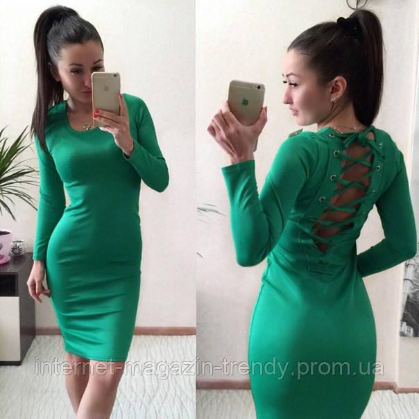 Платье со шнуровкой на спине фото