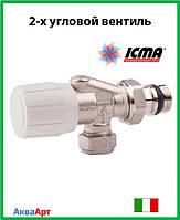Icma 2-х угловой вентиль с возможностью установки термоголовки Арт. 870
