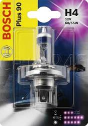 Галогенная лампа H4 12V 60/55W (свет +90%) блистер, на Renault Trafic 2001-> — Bosch (Германия) - 1987301077