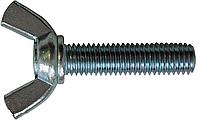 Болт DIN 316 барашковый американская форма оц, нержавеющий А2, А4, латунный