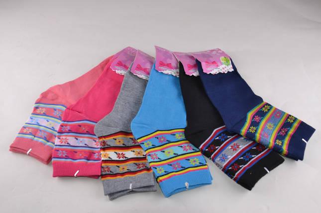 Женские носки однотонные с рисунком (B332) | 12 пар, фото 2