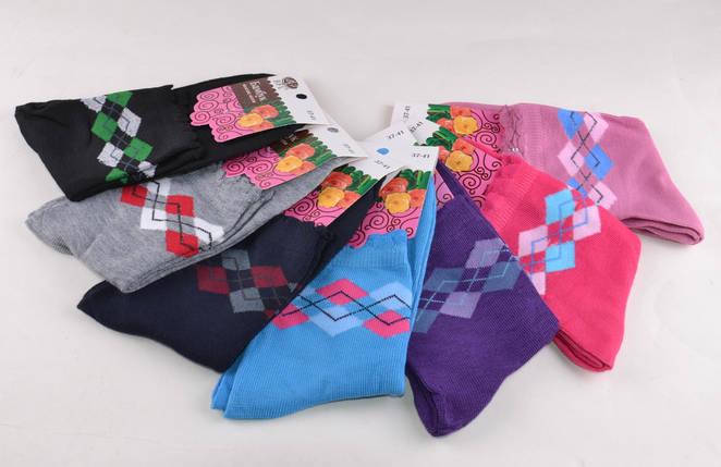 Женские носки однотонные с рисунком (Aрт. B380), фото 2