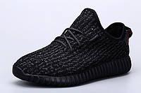 Жіночі кросівки Adidas Yeezy Boost 350 чорні, фото 1