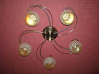 Люстра на 5 лампочек для низких потолков AB (античная бронза)  P6-70620/5 (4шт. - ящ.)