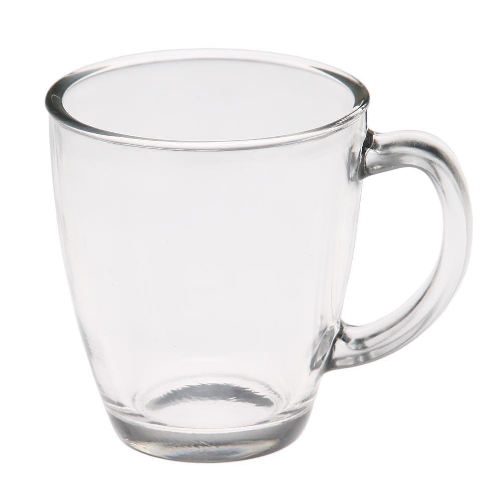 Конусная Чашка  из стекла  с ушком 325 мл