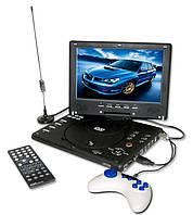 """Портативный DVD плеер 12"""" +USB+Game+TV 1289"""