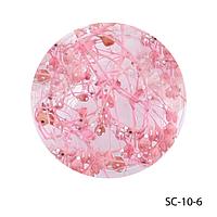 Сухоцветы розового цвета в баночках. SC-10-6