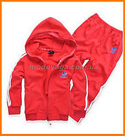 Красные спортивные костюмы Адидас для мальчиков