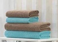 Набор полотенец + коврик для ванной U.S. Polo Assn BRADENTON кофе/голубой