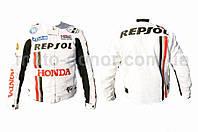 """Мотокуртка текстиль   """"REPSOL""""   (mod:1, size:L, белая)"""