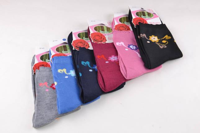 Женские носки однотонные с рисунком (B351) | 12 пар, фото 2