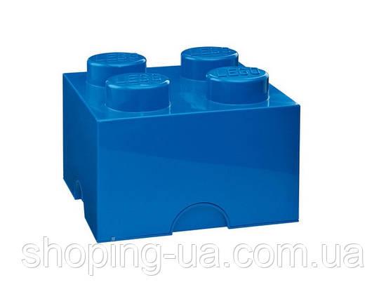 Четырехточечный синий контейнер для хранения Lego PlastTeam 40031731, фото 2