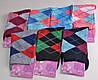 Женские носки цветные в ромбик (B331) | 12 пар