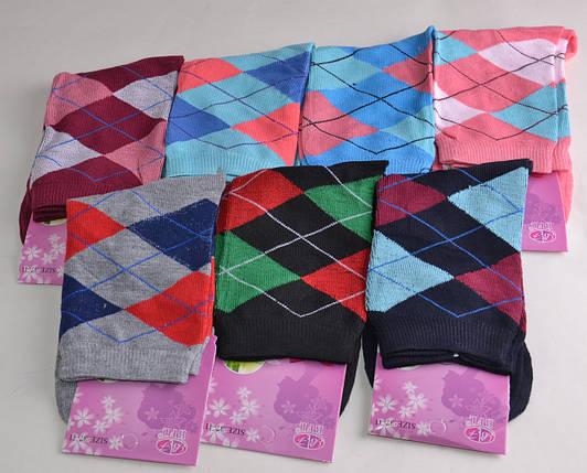 Женские носки цветные в ромбик (B331) | 12 пар, фото 2