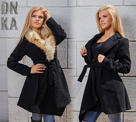 Пальто кашемир с мехом , фото 2
