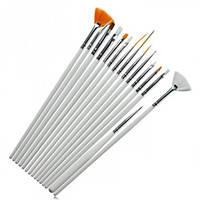 Набор кисточек для росписи и дизайна ногтей (15 шт.)