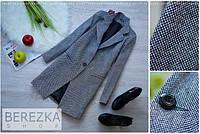 Модное свободное твидовое пальто j-340258