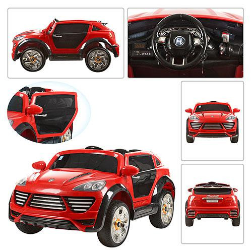 Детский Электромобиль Porsche Ceyenne M 2735 EBR-3 красный, пульт Bluetooth 2.4G, колеса EVA