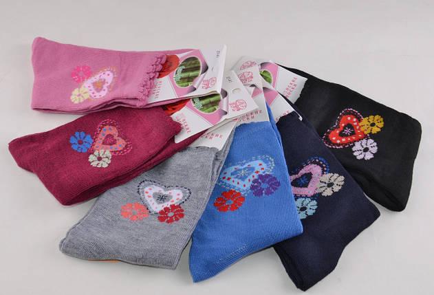 Женские носки однотонные с рисунком (Aрт. B349), фото 2