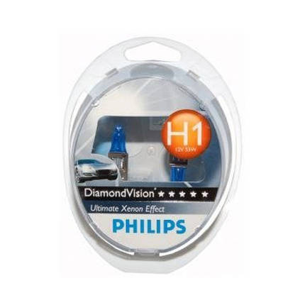 Автомобильные лампы Philips Diamond vision 5000K H1, фото 2